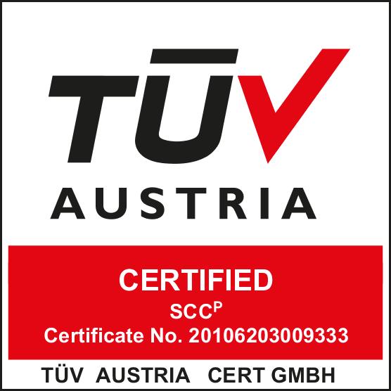 TUV Austria Certified